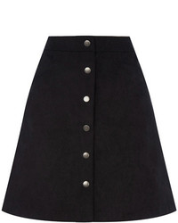 Oasis Suedette Button Through Skirt