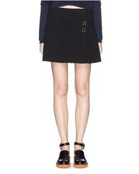 Acne Studios Paynton Snap Button Wool Cotton Blend Skirt