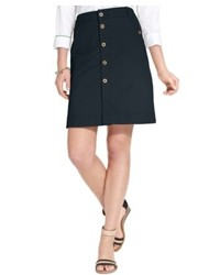 Tommy Hilfiger Button Front Utility Skirt