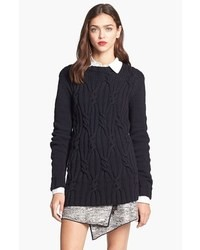 Black Cable Sweater