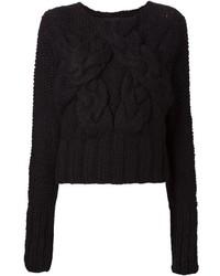 Barbara I Gongini Chunky Cable Knit Sweater