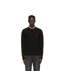 AMI Alexandre Mattiussi Black Cable Ami De Coeur Sweater