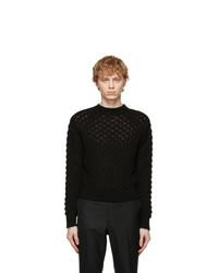 Johnlawrencesullivan Black Cable Knit Sweater