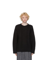 Juun.J Black Knit Sweater