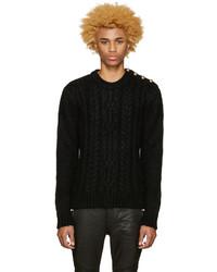 Balmain Black Mohair Sweater