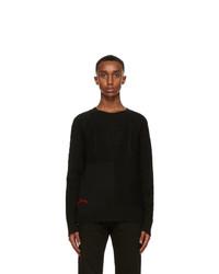 Alexander McQueen Black Wool Sweater