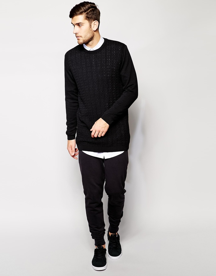 Asos Brand Longline Cable Sweater | Where to buy & how to wear
