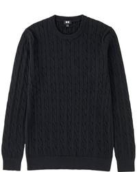 Cable Crewneck Sweater