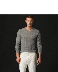Ralph Lauren Purple Label Cable Knit Cashmere Sweater | Where to ...