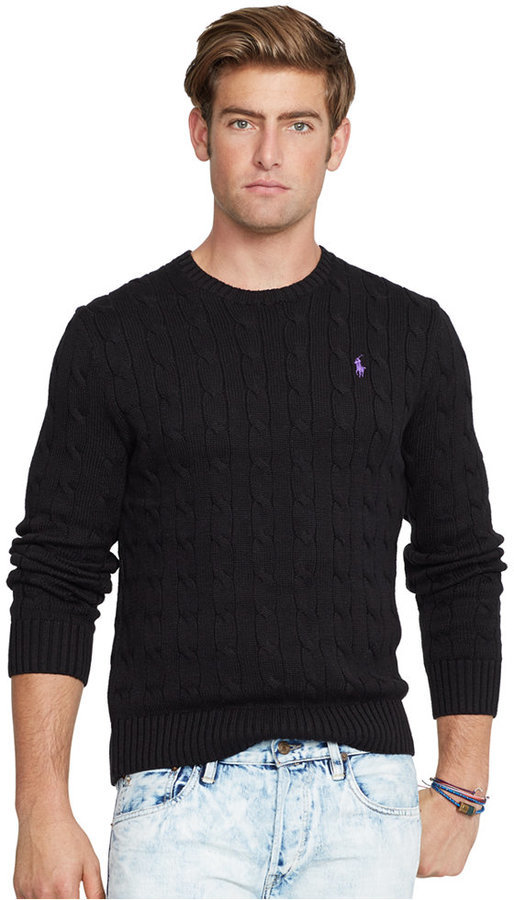 Polo Ralph Lauren Cable Knit Crewneck Sweater | Where to buy & how ...