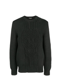 Alexander McQueen Cable Knit Skull Sweater