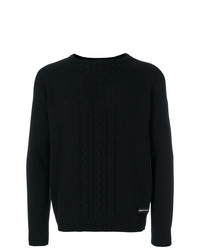 Philipp Plein Cable Knit Sweater