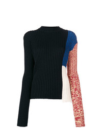 Calvin Klein 205W39nyc Colour Block Ribbed Sweater