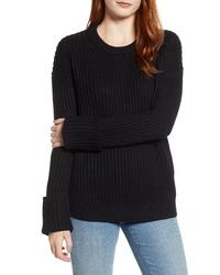 Caslon Cuffed Sleeve Shaker Sweater