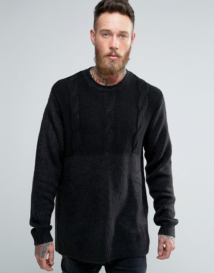 Cheap Monday Deprived Knit Half Cable Sweater Where To Buy How