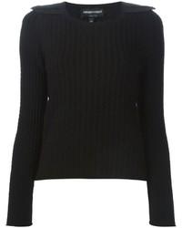 Emporio Armani Epaulettes Cable Knit Sweater