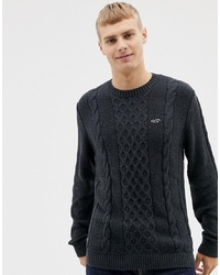 c372f42b062 Men's Black Cable Sweaters from Asos | Men's Fashion | Lookastic.com