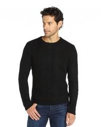 Wyatt Ivory Cable Crewneck Cashmere Sweater