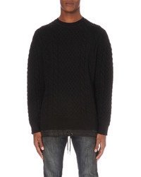 Diesel K Pigris Wool Blend Knitted Jumper