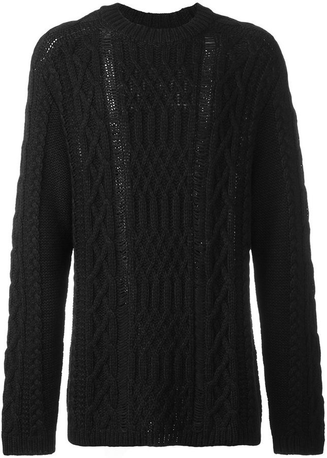 Maison Margiela Ladder Stitch Long Knit Sweater Where To Buy How