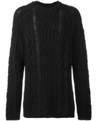 Maison Margiela Ladder Stitch Long Knit Sweater
