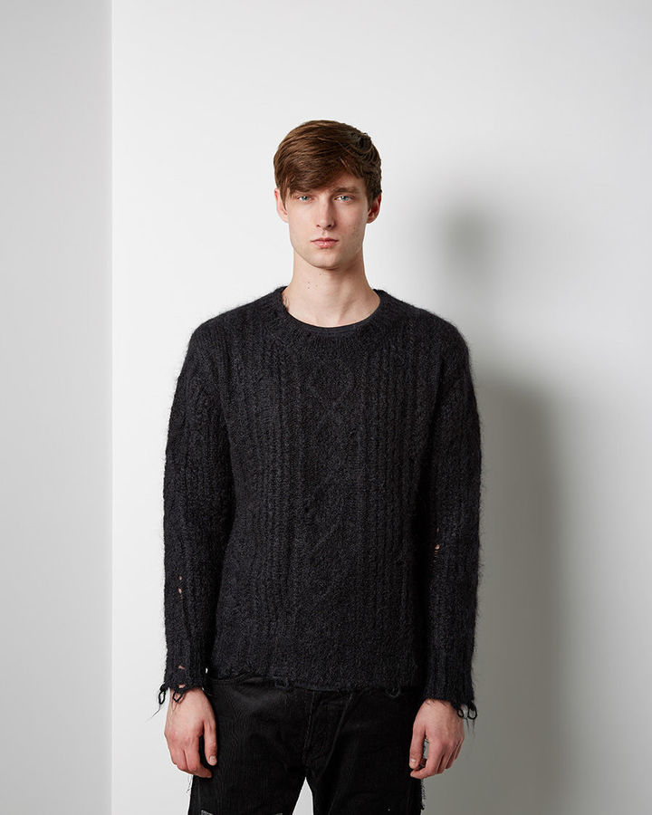 Junya Watanabe Man Distressed Cable Knit Where To Buy How To Wear