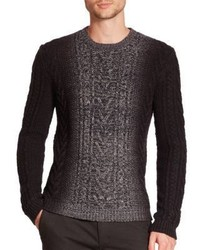 Vince Marled Degrade Cable Knit Sweater