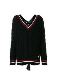 N°21 N21 Stripe Trim Jumper