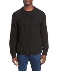 Jeremiah Newport Cable Knit Crewneck Sweater