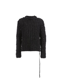 Cedric Jacquemyn Oversized Cable Knit Sweater