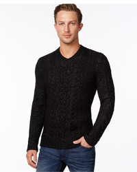 Calvin Klein Premium Chunky Cable Knit V Neck Sweater