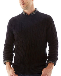 jcpenney St Johns Bay St Johns Bay Cable Knit Crewneck Sweater