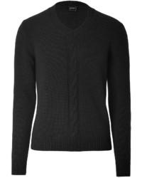 Jil Sander Wool Cashmere Pullover In Black