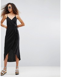 Asos Wrap Maxi Slip Dress