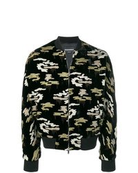 Emporio Armani Embroidered Camouflage Bomber Jacket