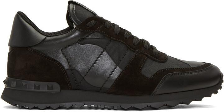 8bb62a42dcd7 ... Valentino Black Camo Rockrunner Sneakers ...