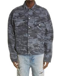 Balenciaga Camo Large Fit Denim Jacket