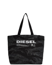 Diesel Black And Grey D Thisbag Shopping Tote