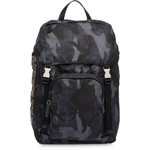 32e3e2982f58 ... Camouflage Nylon Backpacks Prada Printed Technical Fabric Backpack ...