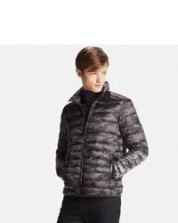 Black Camouflage Puffer Jacket