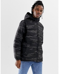 Vans Mte Hooded Camo Jacket In Black Vn0a3hy2xgs1