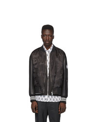 Neil Barrett Black Camo Bolt Bomber Jacket