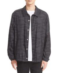 Black Camouflage Shirt Jacket