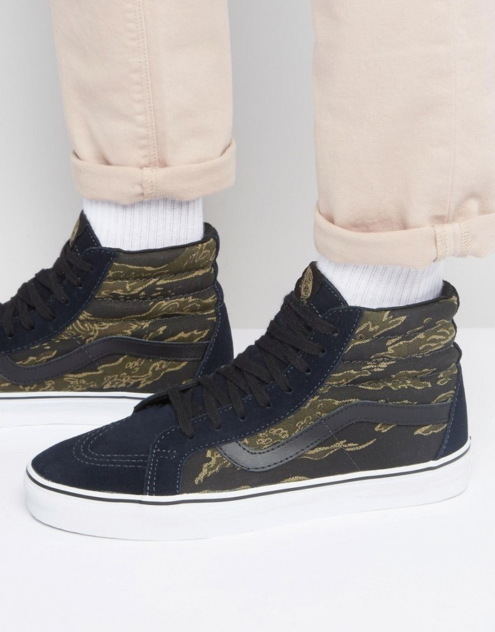 Vans Sk8 Hi Reissue Camo Sneakers In