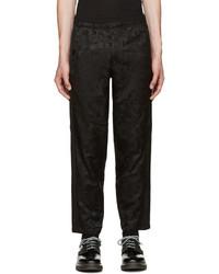 Alexander McQueen Black Camo Skull Lounge Pants