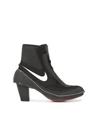 Nike X Comme De Garons Block Heel Boots