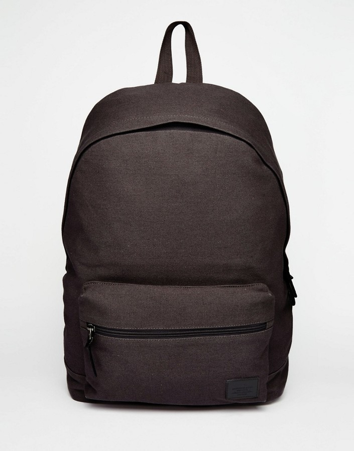 be81c013d47 Asos ASOS BRAND ASOS Backpack In Canvas   Where to buy   how to wear
