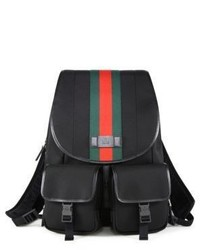 Gucci Band Signature Web Canvas Backpack