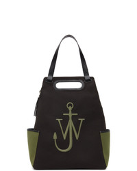 JW Anderson Black And Green Anchor Backpack