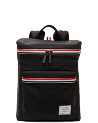 Thom Browne Black Canvas And Leather Backpack